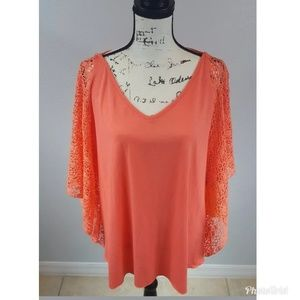 Ruby Rd. Cabana Cool Blouse Butterfly Sleeves